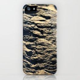landslide rock formation in golden hour iPhone Case