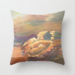 One Village Sunset Throw Pillow