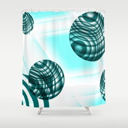 Worlds of the mind Shower Curtain