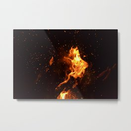 Bonfire warming up Metal Print