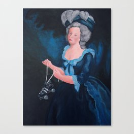 Marie Antoinette, Roller Girl Canvas Print