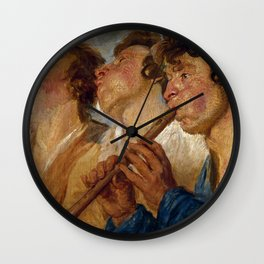 "Jacob Jordaens ""Three Musicians"" Wall Clock"