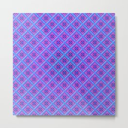 Purple Pillow Puffs Pattern Metal Print