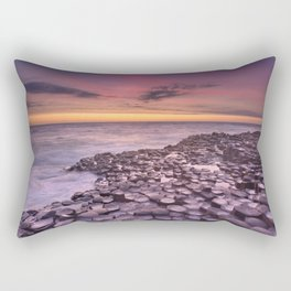 The Giant's Causeway in Northern Ireland at sunset Rectangular Pillow
