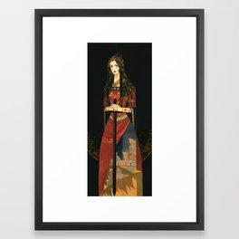 Golden Embers Framed Art Print
