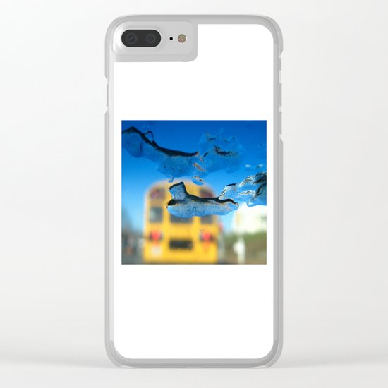 yellow bus and ice photography Clear iPhone Case