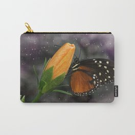Monarch Butterfly Standing on a Flower Carry-All Pouch