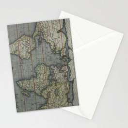Vintage Map of The World (1595) 2 Stationery Cards