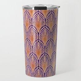orange,art deco,metallic,beet,coral,vintage,art nouveau, modern,trendy,classy,beautiful,elegant Travel Mug