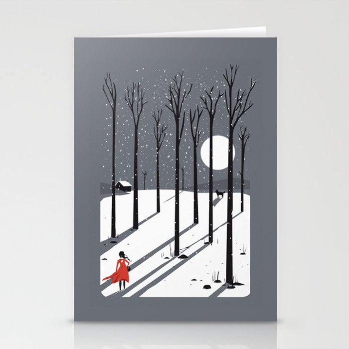 little red cap Stationery Cards