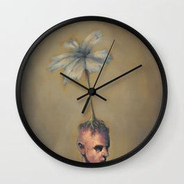 Man with Flower Wall Clock