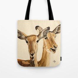 Impalas Watercolor Tote Bag