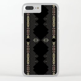 Southwestern Black Diamond Stripe Patterns Clear iPhone Case