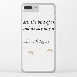 My Heart, the Bird of the Wilderness Quote Clear iPhone Case