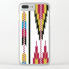 American Native Pattern No. 42 Clear iPhone Case