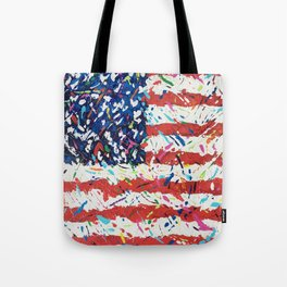 Born on the 4th of July, US Confetti Flag Tote Bag