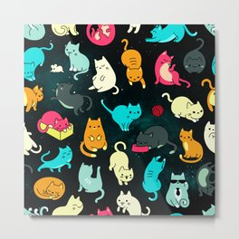 Kitty Space Metal Print
