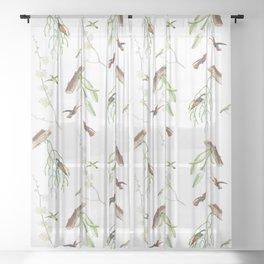 Birds #1 Sheer Curtain