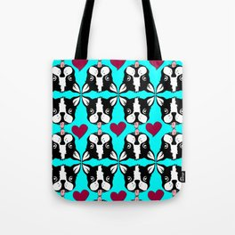 French kissing Boston Terriers Tote Bag