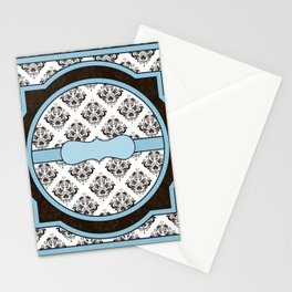 Vintage Victorian Classic Brown and Blue Stationery Cards