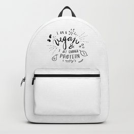 vegans and protein Backpack
