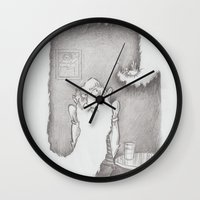 beard Wall Clocks featuring Beard by Leif Gregersen