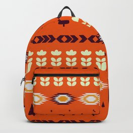 Holiday pattern with Christmas trees Backpack