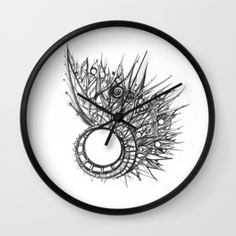 visual pattern of exotic lines Wall Clock