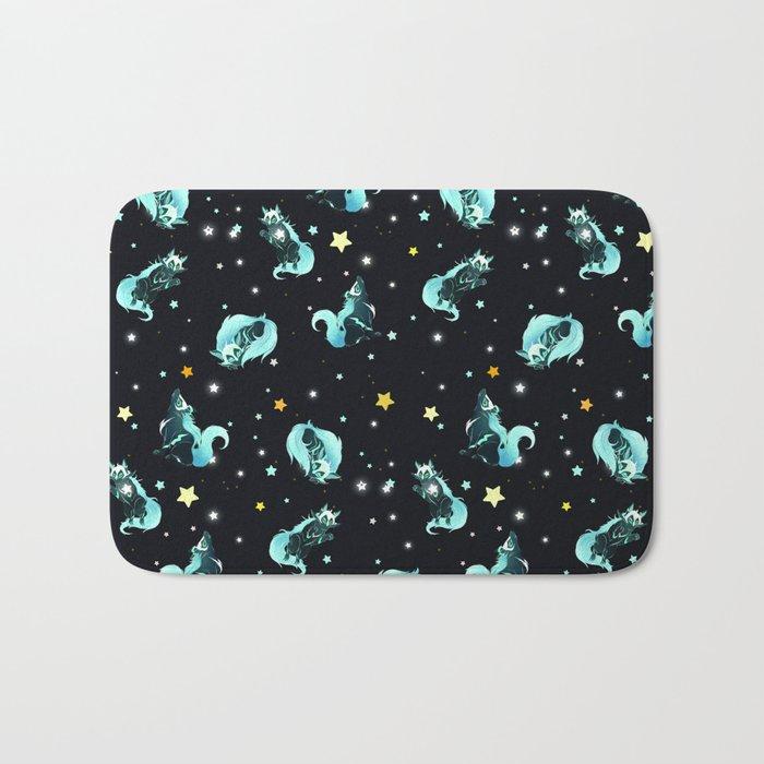 Cosmic Wolf Bath Mat