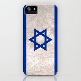 Israel Flag (Vintage / Distressed) iPhone Case