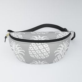Retro Mid Century Modern Pineapple Pattern Gray 2 Fanny Pack