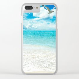 Sunny Day at the Beach Clear iPhone Case