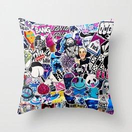 Millennial Pop Art Throw Pillow
