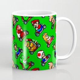 Super Mar!o Kart heroes | greengrass || retrogaming pattern Coffee Mug