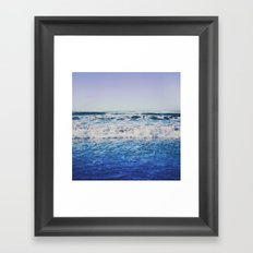 Indigo Waves Framed Art Print