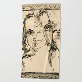 Bipolar by Kate Morgan Beach Towel