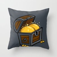booty Throw Pillows featuring Booty by Santo76