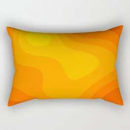 Abstract Yellow To Orange Liquid Rectangular Pillow