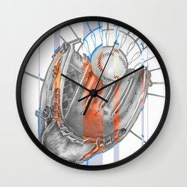Baseball player Wall Clock