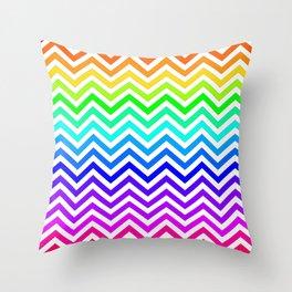 Raibow pattern lines Throw Pillow