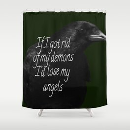 Crow | Black bird | The Crow | Quotes | Gothic | Love Shower Curtain