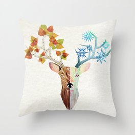 deer season Throw Pillow