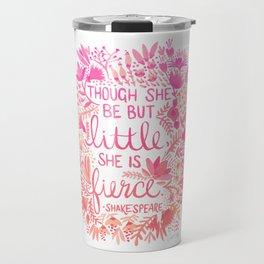 Little & Fierce – Pink Ombré Travel Mug