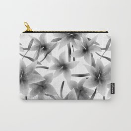 Lily. Black and white pattern . Carry-All Pouch
