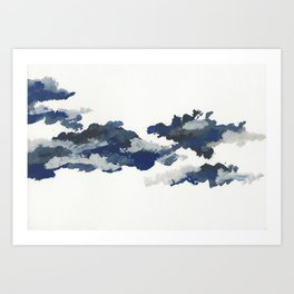 clouds_april Art Print