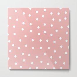 Pink Dots Style Metal Print