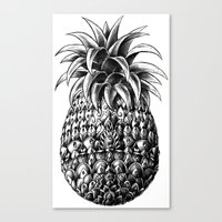 ornate Canvas Prints featuring Ornate Pineapple by BIOWORKZ