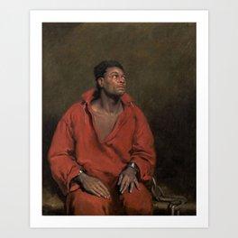 African American Masterpiece The Captive Slave by John Philip Simpson Art Print
