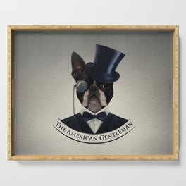 Boston Terrier  - The American Gentleman Serving Tray