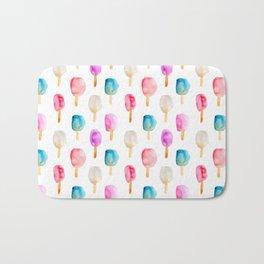 Popsicles || watercolor Bath Mat